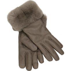 Rękawiczki damskie. Szare rękawiczki damskie Gino Rossi, na jesień, ze skóry. Za 219,90 zł.