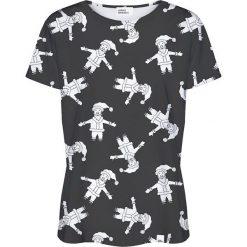 Colour Pleasure Koszulka damska CP-030 293 czarno-biała r. XL/XXL. Fioletowe bluzki damskie marki Colour pleasure, uniwersalny. Za 70,35 zł.