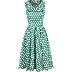 H&R London Ravishing Green Polka Dot Swing Dress Sukienka zielony/biały. Białe sukienki na komunię H&R London, xs, z bawełny. Za 244,90 zł.