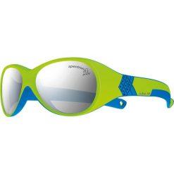 """Okulary przeciwsłoneczne damskie: Okulary przeciwsłoneczne """"Bubble"""" w kolorze zielono-szaro-białym"""