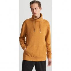 Bluza z kominowym kołnierzem - Brązowy. Brązowe bluzy męskie rozpinane marki LIGNE VERNEY CARRON, m, z bawełny. Za 99,99 zł.