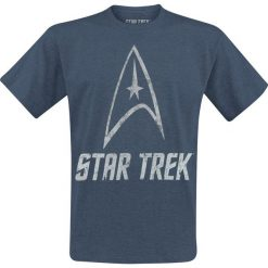Star Trek Logo T-Shirt odcienie niebieskiego. Niebieskie t-shirty męskie z nadrukiem marki Star Trek, xl, z okrągłym kołnierzem. Za 74,90 zł.