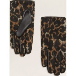 Mango - Rękawiczki Leopardi. Czerwone rękawiczki damskie Mango, z bawełny. Za 69,90 zł.