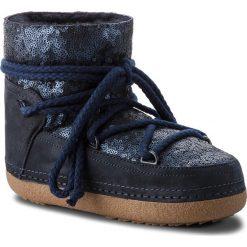 Buty INUIKII - Boot 70101-9 Sequin D'Blue. Niebieskie buty zimowe damskie Inuikii, z materiału. Za 1409,00 zł.