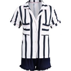 Piżamy damskie: Chelsea Peers LUX STRIPE SHORT SET Piżama navy