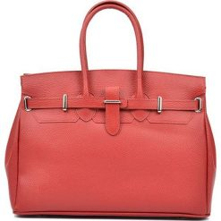 Torebki i plecaki damskie: Skórzana torebka w kolorze czerwonym – (S)28 x (W)37 x (G)17 cm