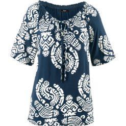 Tunika shirtowa, krótki rękaw bonprix ciemnoniebieski. Niebieskie tuniki damskie bonprix, z krótkim rękawem. Za 54,99 zł.