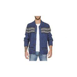 Swetry rozpinane / Kardigany Franklin   Marshall  GOULI. Niebieskie kardigany męskie Franklin Marshall, m. Za 527,20 zł.