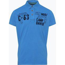 Camp David - Męska koszulka polo, niebieski. Niebieskie koszulki polo Camp David, l, z haftami. Za 279,95 zł.