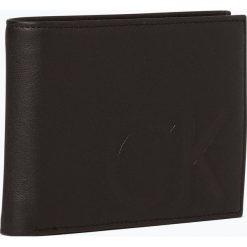 Calvin Klein - Portfel męski ze skóry, czarny. Czarne portfele męskie Calvin Klein, ze skóry. Za 299,95 zł.