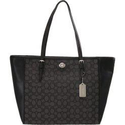Shopper bag damskie: Coach TURNLOCK TOTE Torba na zakupy black