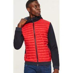 Pikowana bluza z kapturem - Czerwony. Czerwone bluzy męskie rozpinane marki KALENJI, m, z elastanu, z długim rękawem, długie. Za 99,99 zł.