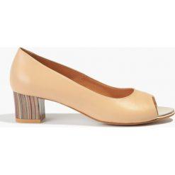 Buty ślubne damskie: Czółenka beżowe