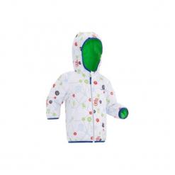 Kurtka na sanki Warm Reverse dla maluchów. Zielone kurtki męskie zimowe marki WED'ZE, l, z nadrukiem, z materiału. Za 99,99 zł.
