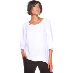 """Bluzki asymetryczne: Lniana koszulka """"Mael"""" w kolorze białym"""