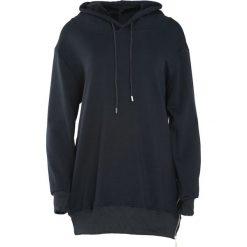 Czarna Bluza Sacrifice. Czarne bluzy rozpinane damskie marki Born2be, l, z dresówki, z długim rękawem, długie, z kapturem. Za 79,99 zł.