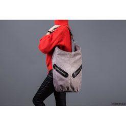 KOFI - duża torba worek - szara z czarnym. Czarne torebki klasyczne damskie marki Pakamera, duże. Za 124,00 zł.