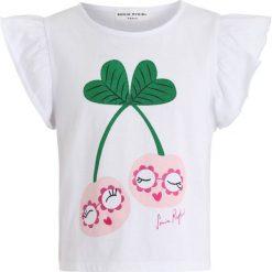 Sonia Rykiel AMANDE Tshirt z nadrukiem blanc. Białe t-shirty chłopięce Sonia Rykiel, z nadrukiem, z bawełny. Za 169,00 zł.