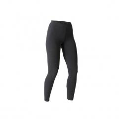 Legginsy slim Gym & Pilates 100 Stretch damskie. Szare legginsy damskie do fitnessu DOMYOS, l, z bawełny. Za 19,99 zł.