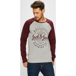 Jack & Jones - Bluza. Szare bejsbolówki męskie Jack & Jones, l, z nadrukiem, z bawełny, bez kaptura. W wyprzedaży za 99,90 zł.