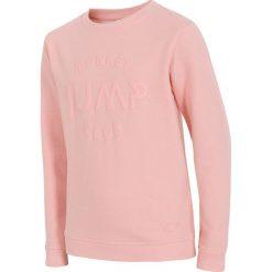 Bluza dla dużych dziewcząt JBLD202 - JASNY RÓŻ. Czerwone bluzy dziewczęce rozpinane marki 4F JUNIOR, na lato, z bawełny. Za 39,99 zł.