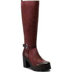 Kozaki EVA MINGE - Leonor 2S 17SM1372226EF 434. Czerwone buty zimowe damskie Eva Minge, z nubiku, na obcasie. W wyprzedaży za 329,00 zł.