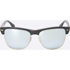 Ray-Ban - Okulary Clubmaster Oversized. Szare okulary przeciwsłoneczne męskie lustrzane Ray-Ban, z materiału. Za 599,90 zł.