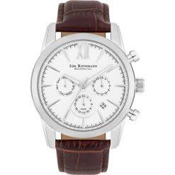 """Zegarki męskie: Zegarek kwarcowy """"Halvor"""" w kolorze brązowo-srebrno-białym"""