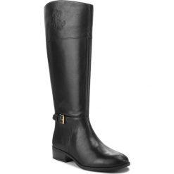 Oficerki LAUREN RALPH LAUREN - Madisen 802712326001 Black. Czarne buty zimowe damskie Lauren Ralph Lauren, z materiału, na obcasie. Za 829,90 zł.