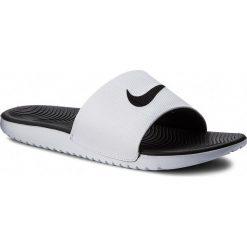 Klapki NIKE - Kawa Slide 832646 100 White/Black. Białe klapki męskie marki Nike, z materiału. W wyprzedaży za 129,00 zł.