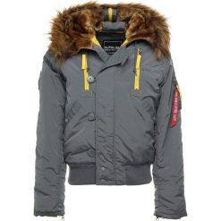 Alpha Industries Kurtka zimowa grey/black. Czarne kurtki męskie zimowe marki Alpha Industries, m, z aplikacjami. Za 1009,00 zł.