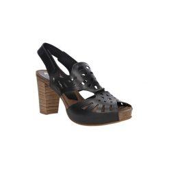 Sandały Ana Roman  Sandały skórzane ażurowe  17338. Czarne sandały damskie Ana Roman, w ażurowe wzory. Za 239,99 zł.