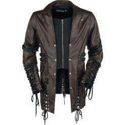 Płaszcze męskie: Gothicana by EMP After Dark Płaszcz z ekoskóry brązowy