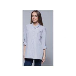 Luźna koszula oversize szara H010. Niebieskie koszule wiązane damskie Harmony. Za 135,00 zł.
