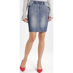 Spódniczki jeansowe: Kaffe ELINA DENIM  Spódnica jeansowa blue smoke denim