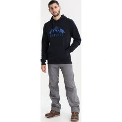 Bergans EXPLORE HOODIE Bluza z kapturem dark navy/nightblue/fjord. Niebieskie bluzy z kapturem damskie Bergans, m, z materiału. Za 319,00 zł.