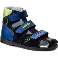 Sandały BARTEK - 86792-8/Q51 Granatowy. Niebieskie sandały męskie skórzane Bartek. W wyprzedaży za 159,00 zł.