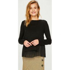 Answear - Sweter. Szare swetry klasyczne damskie ANSWEAR, m, z dzianiny, z okrągłym kołnierzem. Za 129,90 zł.
