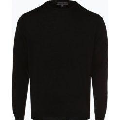 Finshley & Harding - Sweter męski z dodatkiem wełny merino, czarny. Czarne swetry klasyczne męskie Finshley & Harding, m, z aplikacjami, z dzianiny. Za 129,95 zł.
