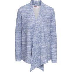 Bluza rozpinana z długim rękawem bonprix niebieski melanż. Niebieskie bluzy rozpinane damskie bonprix, melanż, z długim rękawem, długie. Za 44,99 zł.