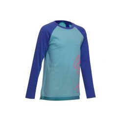 Koszulka Gym 500. Szare bluzki dziewczęce bawełniane marki DOMYOS, z kapturem. W wyprzedaży za 7,99 zł.