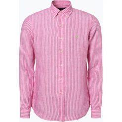 Koszule męskie na spinki: Polo Ralph Lauren – Męska koszula lniana, różowy