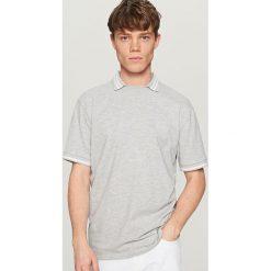 Koszulka polo - Jasny szar. Szare koszulki polo marki Reserved, m. W wyprzedaży za 49,99 zł.