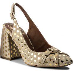 Sandały damskie: Sandały BALDOWSKI – D02284-4329-001  Zamsz Beż/Kropki Złote