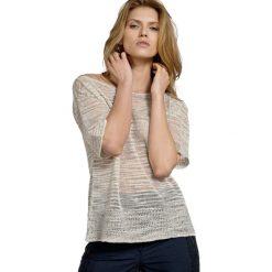 Sweter w kolorze beżowym. Brązowe swetry klasyczne damskie Deni Cler, z denimu. W wyprzedaży za 409,95 zł.