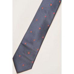 Krawaty męskie: Krawat w serca – Granatowy