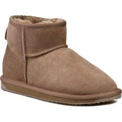 Buty EMU AUSTRALIA - Stinger Micro W10937 Mushroom. Brązowe buty zimowe damskie EMU Australia, z gumy. Za 499,00 zł.