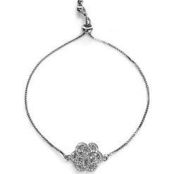 Bransoletki damskie: Bransoletka z biżuteryjną aplikacją