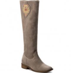 Oficerki ROBERTO - 584 Cappucino. Brązowe buty zimowe damskie Roberto, z materiału. W wyprzedaży za 309,00 zł.