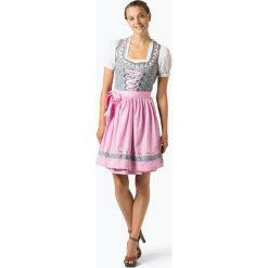 Alpenfeeling - Ludowa sukienka damska – Chiemsee, różowy. Czerwone sukienki hiszpanki Alpenfeeling, w kropki, z satyny, z falbankami. Za 579,95 zł.